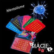 Carte à prédiction de nombre - Tour de magie débutant