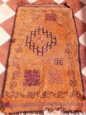 "Old Stunning Wool Moroccan Rug Handwoven Berber antique Boujaad  3' 1""x 5' 3"""