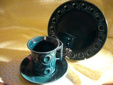 Portmeirion Pottery Jupiter by Susan Williams-Ellis Cup, Saucer and Side Plate