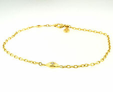 "Genuine PANDORA 18Carat Yellow Gold 8"" Swarovski Solitaire Bracelet (5mm Widest)"