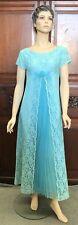 1950's Vintage Patou Originals Melbourne Satin Lace & Chiffon Evening Dress