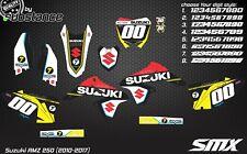 Suzuki RMZ 250 2010 2017 SMX motocross graphics decals vinyl sticker RMZ250 2014
