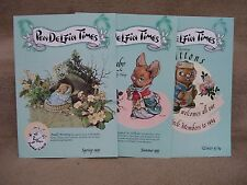 1993 Pendelfin Times 3 Issues from Family Circle Aunt Rudy