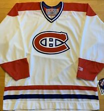 NWT CCM NHL Montreal Canadiens VTG White Away Sewn Hockey Jersey Size XL RARE