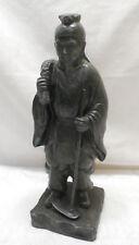 Antique Bronze FARMER Statue Peasant Field Worker Man Japanese #66
