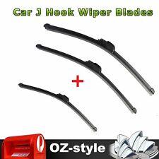 J Hook Frameless Wiper Blades Refills Front + Rear For  RAV4 RAV-4 2001 - 2005