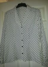 Vintage Ladies tailored /  fitted blouse M