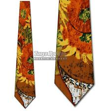 Sunflowers Tie Vincent Van Gogh Neckties Mens Art Neck Ties Brand New