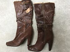 Brown Leather Knee High Boots Brand New Size 5 By Seychelles From New York