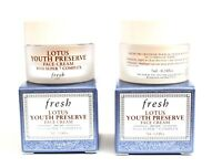 FRESH Lotus Youth Preserve FACE CREAM 2x .24 OzTravel NEW BOX FREE SAME DAY SHIP
