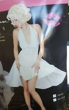 Deluxe Classic Marilyn Monroe Dress Women S/M Costume Fun World  101394