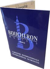 Boucheron Watch Warranty Blank Guarantee Certificate & Instruction Booklet