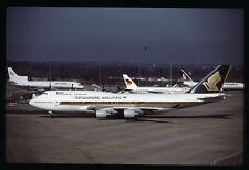 Orig 35mm airline slide Singapore Airlines 747-400 9V-SMB [212-5]