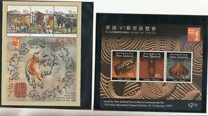New Zealand: 1997 Hong Kong Exhibition set of 2 x miniature sheets.. MUH & Cheap