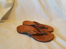 Vionic Floriana Womens Embellished Studded Orthaheel Sandals Shoes Size 10