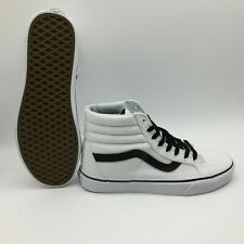 NEW!! VANS Sk8-Hi Reissue (Canvas) True White/Black Shoes
