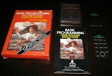 Atari 2600 Vintage 1979 Basic Programming with manual, box, & keyboard overlays