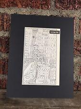 "City Map Grand Rapids Michigan 1958 Mid Century Black Matted 8""x10"" Art Print"