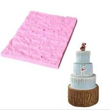 Fondant Silicone Mold Tree Bark Texture Embossed Mat Baking Pattern Cake Mold J