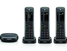 Motorola MOTO AXH03 Alexa Integrated Smart Cordless Phone-3 Handsets