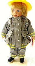 FIREFIGHTER RESCUE BLONDE DJ  BOY HELMET _KISH_ FIRE UNIFORM DOLL FIGURINE TOY