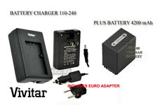 Battery+AC/DC Charger for Sony NP-FH100 FH70 SONY DCR-DVD508 DVD610 DVD650 SR45