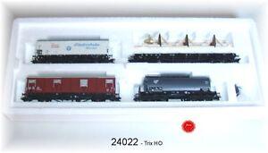 Trix 24022 Güterwagen-Set der DB 4-teilig #NEU in OVP#
