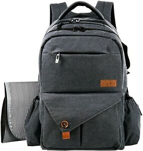 HapTim Multi-Function Baby Diaper Backpack with Stroller - Grey - 5284 - New