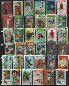 Barbuda - 280 different MNH stamps in full sets to $10, nice collection (78Y)