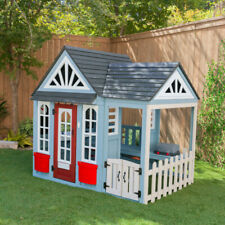 NEW KidKraft Timber Trail Cubby Playhouse pre-painted   Kids Outdoor cubbyhouse