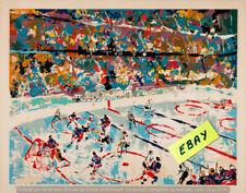 SLAP  SHOT (HOCKEY)  POSTER -  ARTWORK  LeROY  NEIMAN   - $6.99