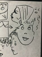 ALEX TOTH Original Art Sketch Page Women Abstract Woman MARKER DRAWINGS