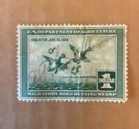 1937 US FEDERAL MIGRATORY BIRD HUNTING DUCK STAMP RW4 Unused OG Hinged