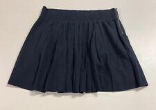 Banana Republic Womens Black Cotton Elastic Waist A Line Skirt Sz L