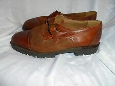 RAVEL MEN'S BROWN LEATHER/SUEDE BUCKLE UP SHOES SIZE UK 10  EU 44  VGC