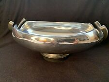 New listing Beautiful Neil Cohen 2010 Nambe Anvil Bowl - Hand Crafted Metal Cradle-Mt0347