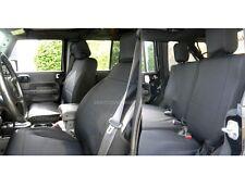Jeep Wrangler 2007-10 Neoprene FULL custom car seat cover 4 door Black yes4d