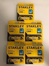5 STANLEY Heavy Duty Staples 1,500 Pcs Each Box(7,500 Staples Total)TRA706TCS