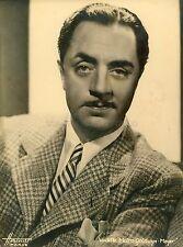 WILLIAM POWELL 30s VINTAGE PHOTO ORIGINAL MGM PORTRAIT HARCOURT