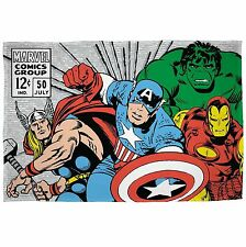 Marvel Comics Retro Fleece Blanket Childrens Kids Boys Official 100cm X 150cm