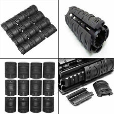 Rifle Weaver Picatinny Hand Guard Quad Rail Covers Rubber Tactical Black Color