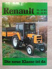 Original Renault 61-12 RS und 61-14 RS Traktor Prospekt