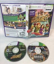 Top Hand Rodeo Tour & Kinect Adventures (Xbox 360 Lot of 2) tested