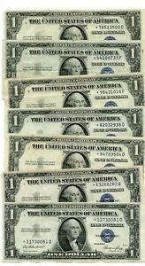 7- 1935 ****STAR*****  $1 One Dollar Silver Certificate   notes  30081