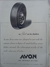 Publicité 1938 AVON tyre pneu réclame advertising