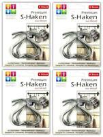 4 St/ück Jumbo S-Haken 12 cm Metallhaken K/üchenhaken Handtuchhaken Haken