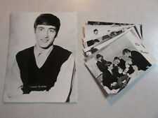 The Beatles Set Of 9 B&W Postcards And 1 8x10 Early-Mid 60's Era Netherlands Oop