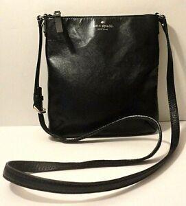 Kate Spade New York Black Saff, Leather Crossbody Swinpack Shoulder Bag Purse