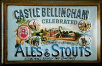 Castle Bellingham Ales Stouts Blechschild Schild 3D geprägt Tin Sign 20 x 30 cm