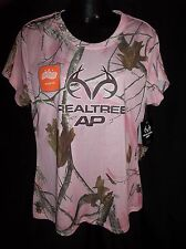 Pink REALTREE AP DRI-MORE Hunting WICKING CAMO Shirt Top Ladies MEDIUM NWT
